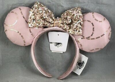 Disney Parks Best Day Ever Pink Minnie Mouse Ears Headband Bow  - NEW