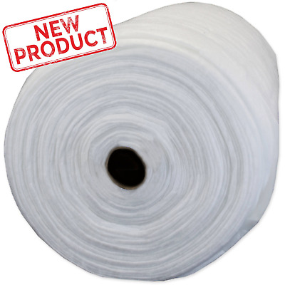 """Pellon Quilt Batting Natural 100% Polyester 96"""" x 30 Yard Roll Fabric Wide White"""