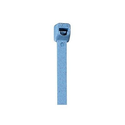 """Metal Detectable Cable Ties, 30#, 6"""", Blue, 100/Custodia"""