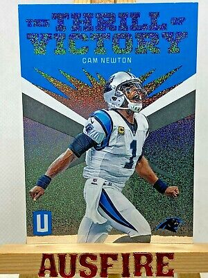 NFL Cam Newton Carolina Panthers 2019 Unparalleled Thrill of Victory Card TV-CNE