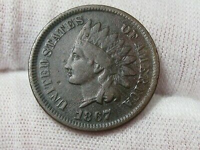 Better Date 1867 Indian Head Penny - W/ Some LIBERTY. #13