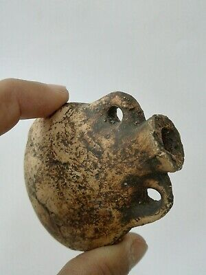 Ancient Roman pottery Small Terracotta jar Unique Beautiful Antique Authentic