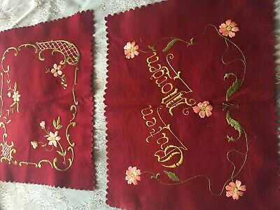 Two Beautiful Vintage Hand-Embroidered Table Runners