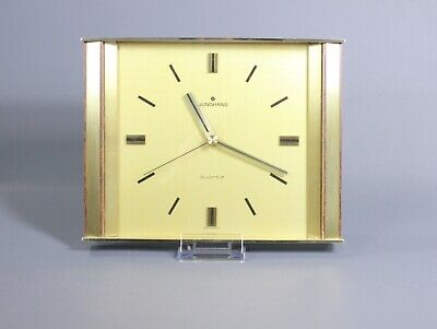 Vintage Mid Century Wall Clock Brass by JUNGHANS West German 1960's Modernist