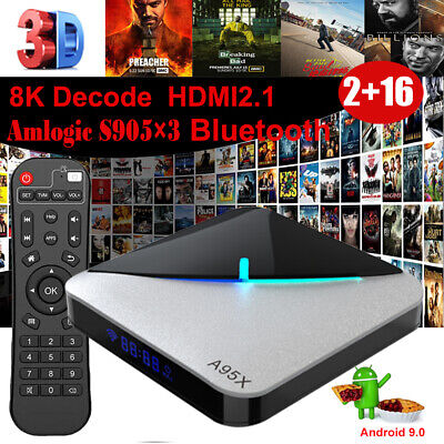 A95X F3 AIR 8K UHD Android 9.0 2+16G WIFI BT Smart TV BOX H.265 S905×3 3D Movies