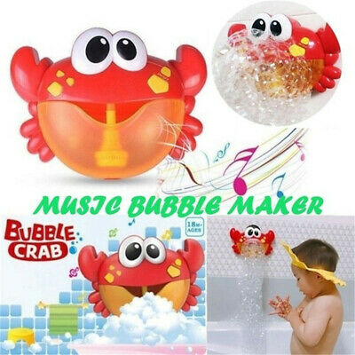 UK Kid Baby Bubble Tub Carb Automatic Shower Machine Blower Maker Bath Music Toy