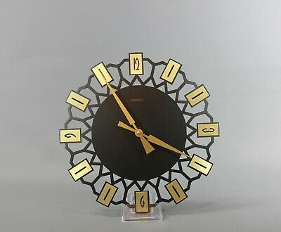 Mid Century Starburst Wall Clock by PRIMUS German Vintage Kitchen Clock - 1960s