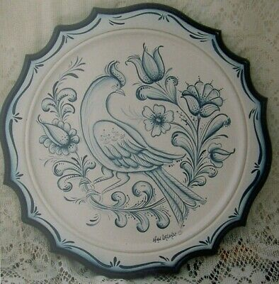 """Ann Lalonde tole painting pattern """"Blue and White Plate"""""""
