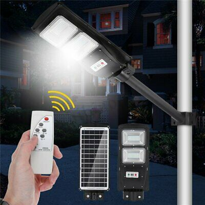 60/90W LED Solar Radar luz calle PIR Motion Sensor pared tiempo lámpara