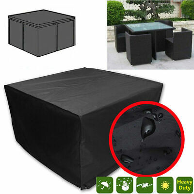 Large Rectangle Waterproof Garden Patio Furniture Cover Rattan Table Outdoor