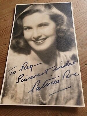 Patricia Roc Vvintage Hand Signed Postcard