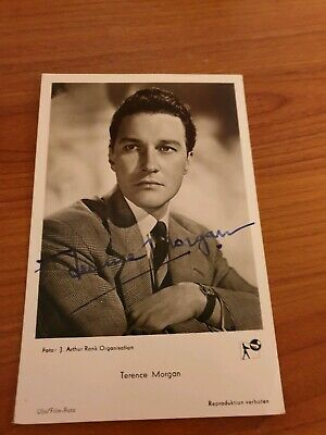 Terence Morgan Hand Signed Postcard