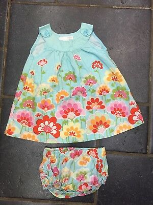 baby girl dress & frilly knickers age 4-6 months
