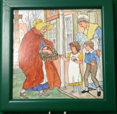 Minton Hollins Hand Painted Tile Circa 1890