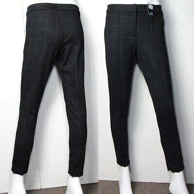 M&S Mid Rise SKINNY Ankle Grazer TROUSERS with Stretch ~ Size 12 Short ~ BLACK
