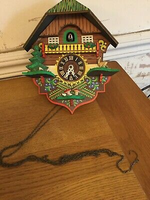 Wooden Cuckoo Clock With Missing Parts