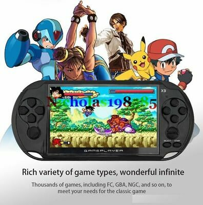 X9 5.0 inch 8G 128 Bit Handheld Retro Game Console Video MP3 /4 Player Camera UK