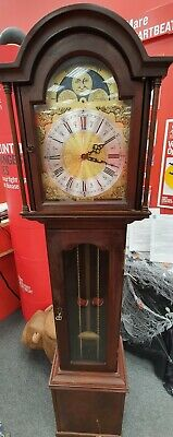 RICHARD BROAD Mahogany Veneer Westminster Chime 167cm Grandmother Clock - CS W66