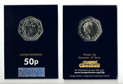 2019 UK Wallace and Gromit CERTIFIED BU 50p Coin in Capsule