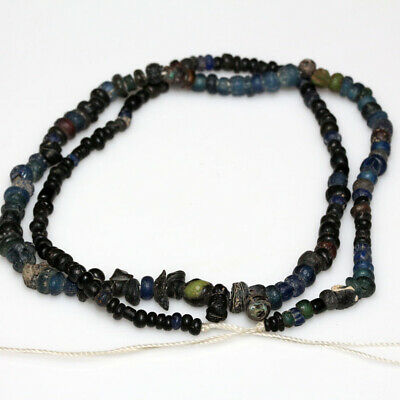 Very Rare Egyptian Stone Beads Necklace Circa 100 Bc-Ad