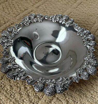 1892-1902 Antique Tiffany & Co Sterling Silver Clover Blossom Bowl / Dish Signed