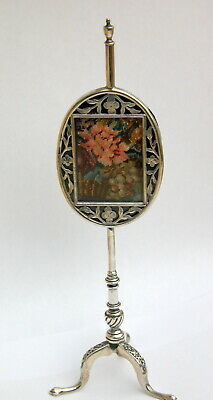Very Unusual Antique Solid Silver Photo Frame as Face Screen 1911