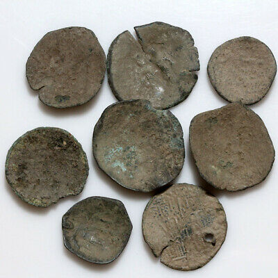 Nice Lot Of 8 Unclean Byzantine Bronze Coins