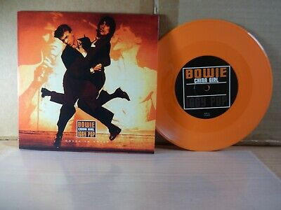 """David Bowie/Iggy Pop - China Girl (Cover To Cover) 7"""" Orange Vinyl"""