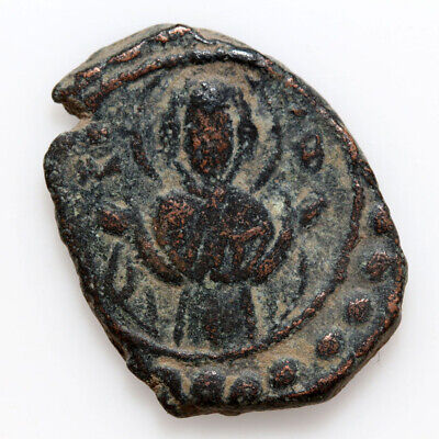 Byzantine Coin AE Follis Alexius I  Class K, 1081-1118, Constantinople