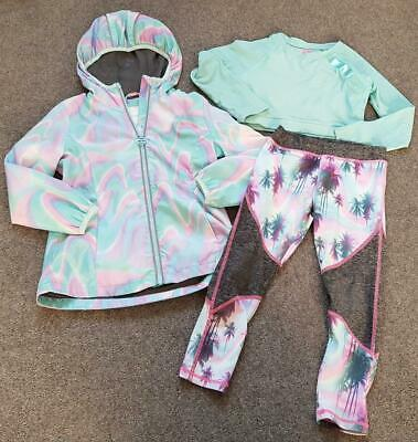 Girls Next, 3 Piece Sports Outfit, Leggings, Jacket And Long Sleeve Top, 6 Yrs