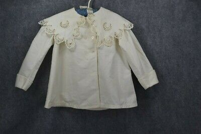 coat child baby doll Victorian Edwardian white lace antique original