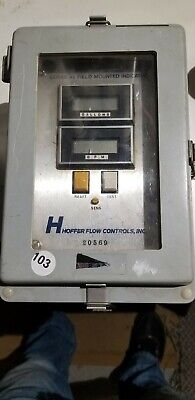 Portable Hoffer Flow Controls Inc. Series 45 field mount indicator enclosure