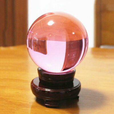 Pink Crystal Photography Lens Ball Photo Prop Background Quartz Ball Home Decor