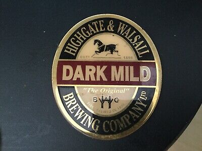 Dark Mild,Highgate Brewery,Vintage Beer Pump Clip,metal,front Only