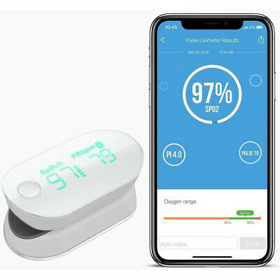 iHealth Bluetooth Pulse Oximeter Finger Tip Fingertip Saturation Blood Oxygen
