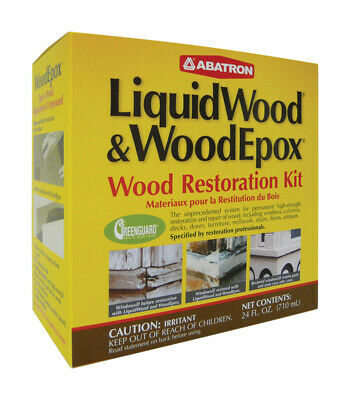 Abatron LiquidWood and WoodEpox Wood Restoration Kit 24 oz