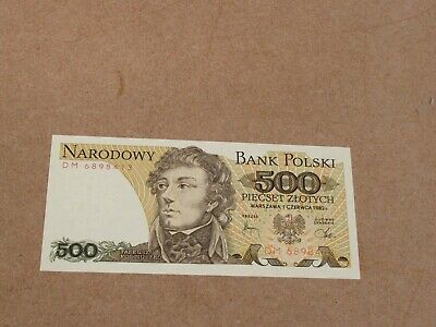 Banknote (uncirculated condition) 1982 Poland 500