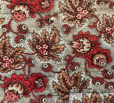 BEAUTIFUL MID 19th CENTURY FRENCH QUILTED COTTON MADDER PRINT c1840s 371