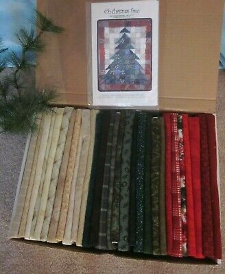 """""""Oh Christmas Tree"""" FABRIC & PATTERN Karla Alexander Lap QUILT 2001 Flannel"""