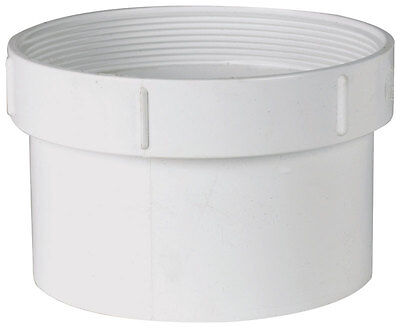 Plastic Trends 6 in. Dia. x 6 in. dia. Spigot To FPT PVC Cleanout Adapter