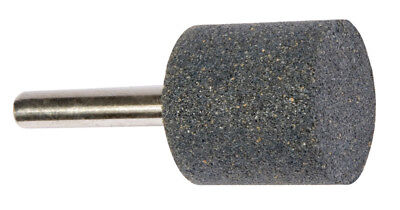 Forney 1 in. Dia. x 1 in. Aluminum Oxide Cylinder 60 Stem Mounted Point