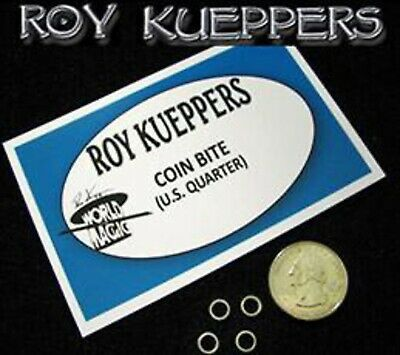 Bite Out Quarter - Roy Keuppers - The Best Quality - Magic Trick - US Seller