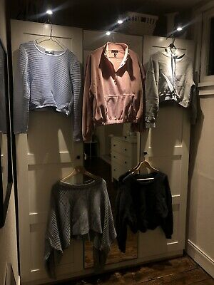 5 x Womens Clothing Bundle, Tops, Jumpers - Zara Topshop New Look, Size 8-12
