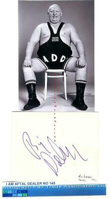 Shirley Crabtree Big Daddy vintage signed page AFTAL#145