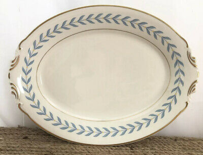 Syracuse China OPCo Old Ivory Sherwood Blue Laurel 12 X 6 Serving Platter Plate
