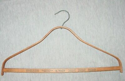Vintage Hanger S. NAGY Cleaners & Dyers New Jersey Wooden Advertising
