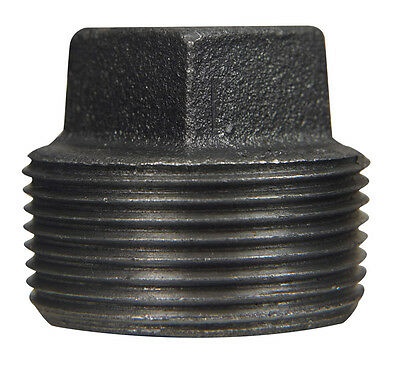 B & K 1-1/4 in. Dia. MPT Black Malleable Iron Plug