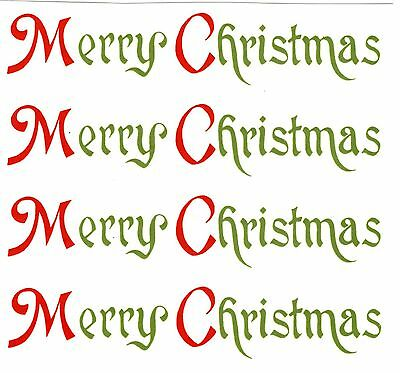 Merry Christmas Select-A-Size Waterslide Ceramic Decals Xx