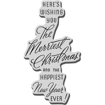 Stampendous Cling Stamp Christmas Greetings 8 x 1.8 cm Christmas Text CRG119