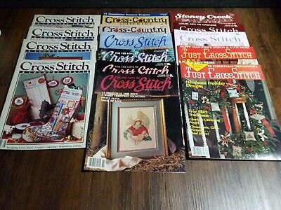 LOT of 15 Cross Stitch Magazines  Various Titles MANY Patterns  in each Magazine